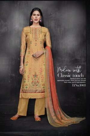 Kesar Karachi Krisha Pure Upada Silk Digital Print Suits 1003