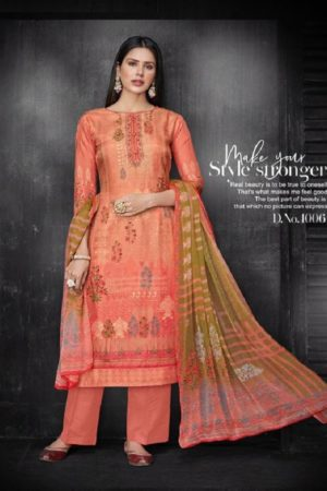 Kesar Karachi Krisha Pure Upada Silk Digital Print Suits 1006