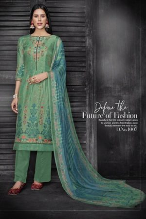 Kesar Karachi Krisha Pure Upada Silk Digital Print Suits 1007