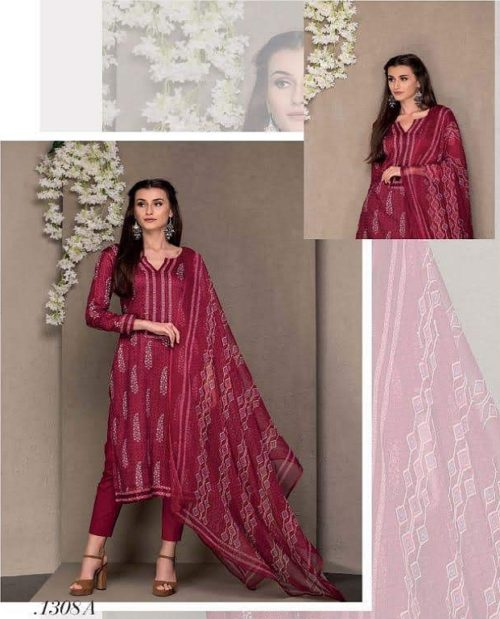 Rivaa Presents Kasturi Jaam Satin Printed Salwar Suit 1308A