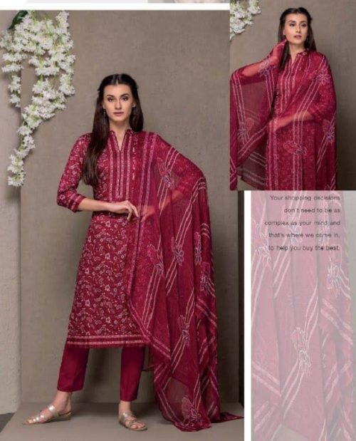 Rivaa Presents Kasturi Jaam Satin Printed Salwar Suit 1309A