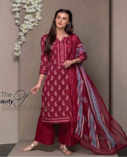 Rivaa Presents Kasturi Jaam Satin Printed Salwar Suit 1311A