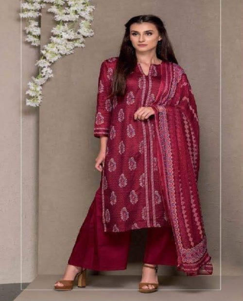 Rivaa Presents Kasturi Jaam Satin Printed Salwar Suit 1312A