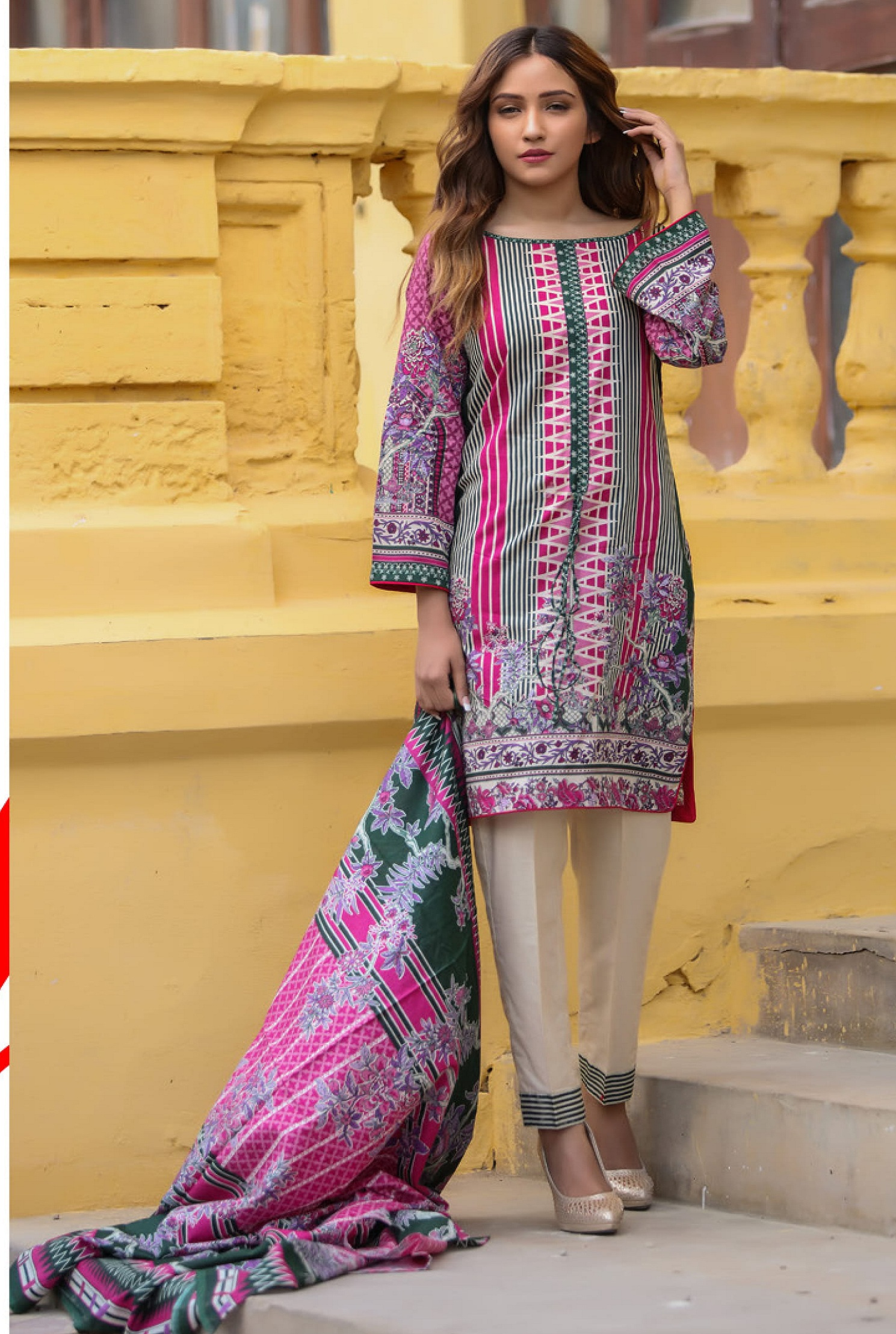 dc5173b60d Riwaz Printed Lawn Collection Original Pakistani Suit 7A | Attri ...