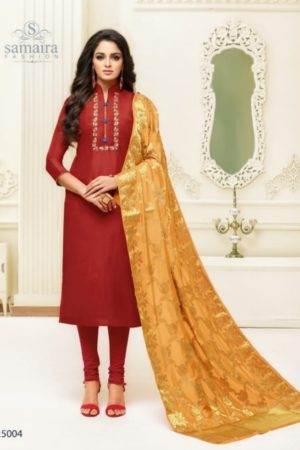 Samaira Saaho Upada Silk With Embroidery Work Salwar Kameez 25004