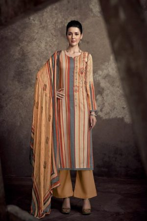 Sanna present Infinite Air Zet Satine Cotton Print With Designer Embroidery Suit 9438