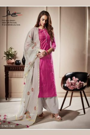 Shai Presents Raaga Pure Bemberg Slub With Hand Work Suit 1802