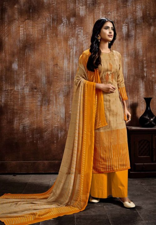 Siddhi Sagar Kaira Pure Cotton Satin Fancy Print Salwar Suit 1004