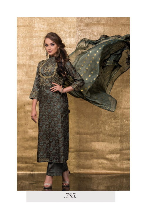 Sri Goldrush Heavy Khatli Work Semi Stitch Suit 785