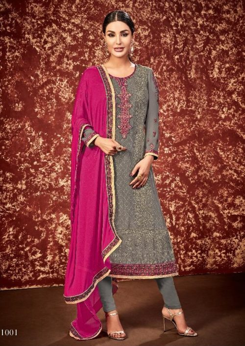 Supriya Fashion Presents Soneri Georgette With Embroidery Suit 1001