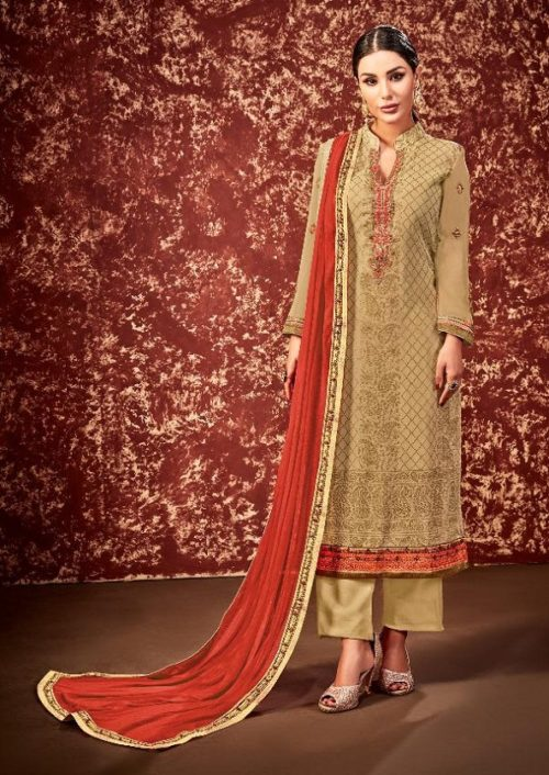 Supriya Fashion Presents Soneri Georgette With Embroidery Suit 1003