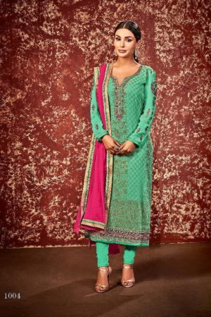 Supriya Fashion Presents Soneri Georgette With Embroidery Suit 1004