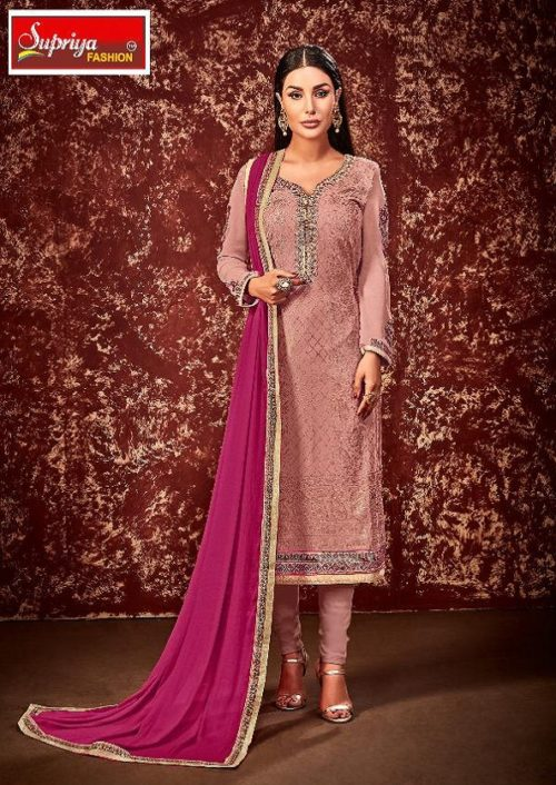 Supriya Fashion Presents Soneri Georgette With Embroidery Suit 1005