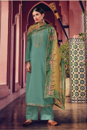 Varsha Karigiri Vol 2 Monga Silk With Embroidery Suit 105