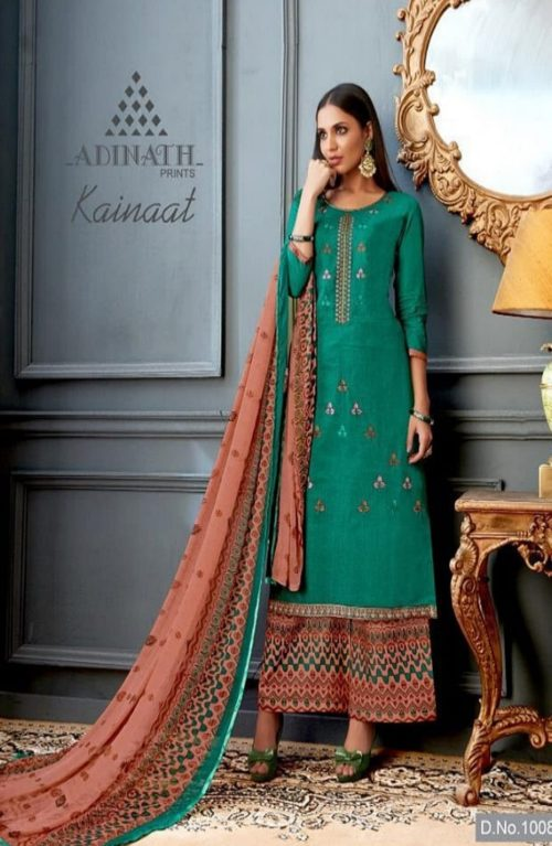 Adinath Prints Kainat Exclusive Festive Collection With Designer Embroidery Suit 10008