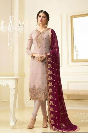 Amirah Vol 12 Faux Georgette Heavy Embroidery Suit 10007