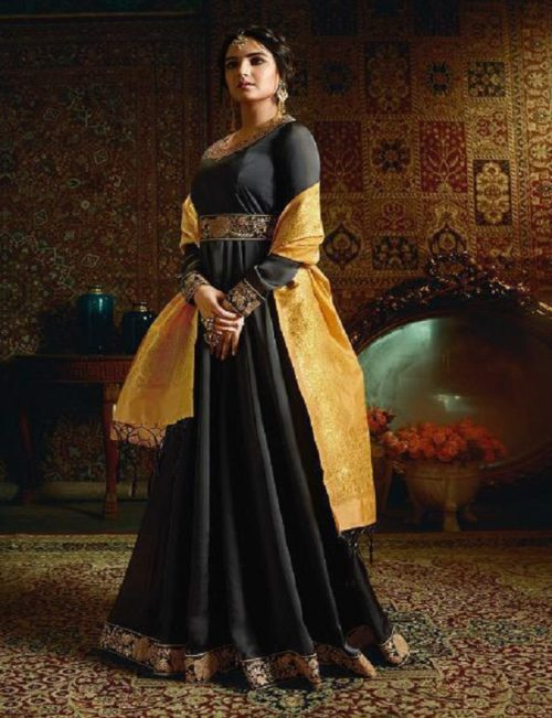 Amirah Vol 21 Satin Georgette with Heavy Embroidery Gowns 11051