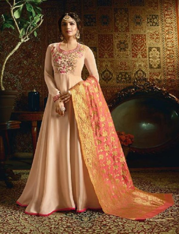 Amirah Vol 21 Satin Georgette with Heavy Embroidery Gowns 11052