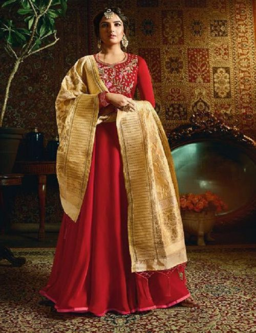 Amirah Vol 21 Satin Georgette with Heavy Embroidery Gowns 11054