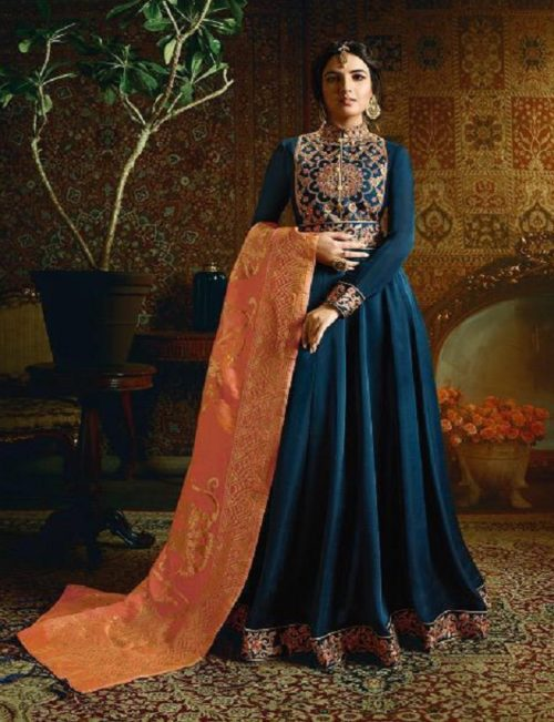 Amirah Vol 21 Satin Georgette with Heavy Embroidery Gowns 11055