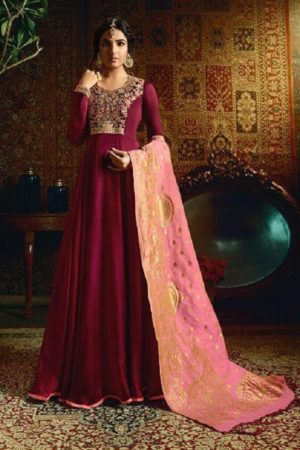 Amirah Vol 21 Satin Georgette with Heavy Embroidery Gowns 11058