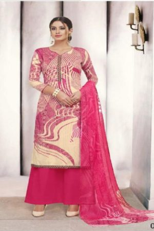 Angroop Plus Presents Nishika Cotton Cambric Printed With Embroidery Suits 027