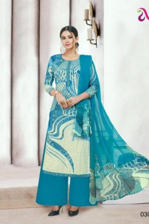 Angroop Plus Presents Nishika Cotton Cambric Printed With Embroidery Suits 030