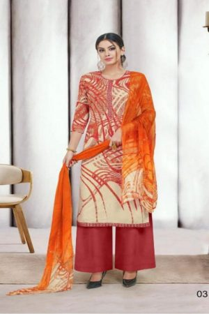 Angroop Plus Presents Nishika Cotton Cambric Printed With Embroidery Suits 031