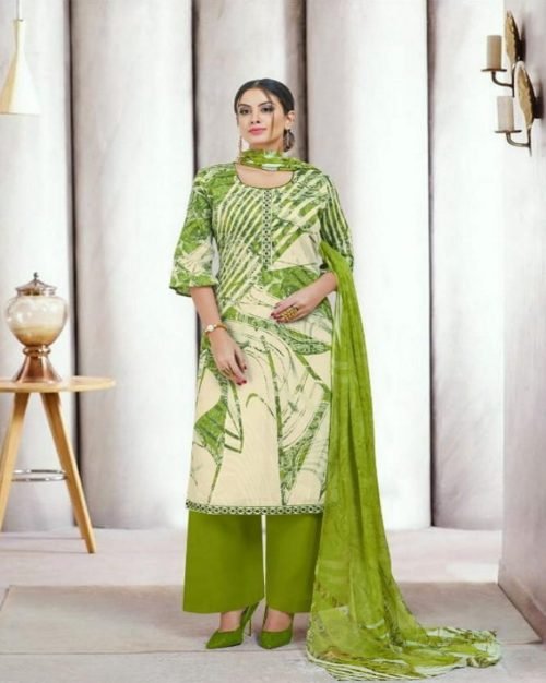 Angroop Plus Presents Nishika Cotton Cambric Printed With Embroidery Suits 032