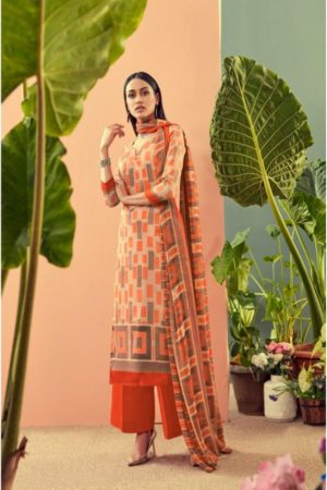 Ankit Textile Present Afsana Vol-8 Jaam Cotton Satin Printed Suits 802 A