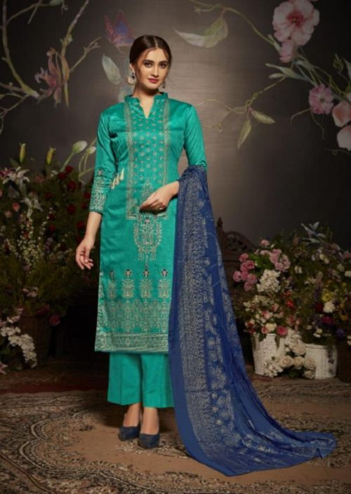Belliza Designer Studio Fiza Original Jam Cotton Satin Suits 222-009