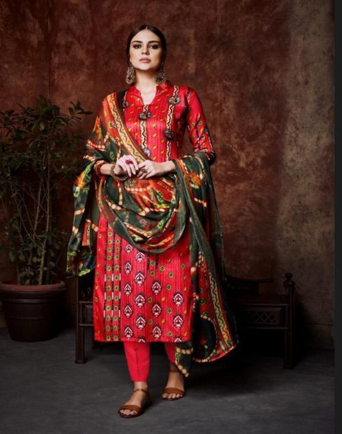 Belliza Designer Studio Pure Premium Cotton Digital Style Print Suit 225-007