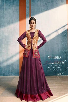 Buy Mugdha Presents Elite Style Designer Fancy Pattern Stylish Gown 5012