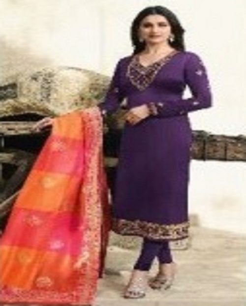 Buy Vinay Fashions Present Banaras 3 Satin With Embroidery Suits 9871