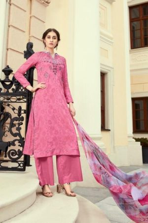 Esta Designs Presents Zareena Pure Cotton With Embroidery Salwar Suit 105
