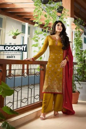Fiona Kritika Top Jacquard Vol 1 Meenakari Jacquard Top with work Suits 22411