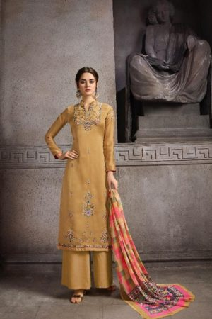Hansa Husna Ara Vol 19 Satin Georgette Dyed With Embroidery Designer Suit 19004
