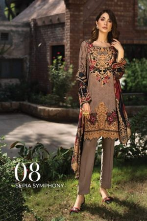 Iris Lawn Master Copy Embroidered Lawn Salwar Suit 08