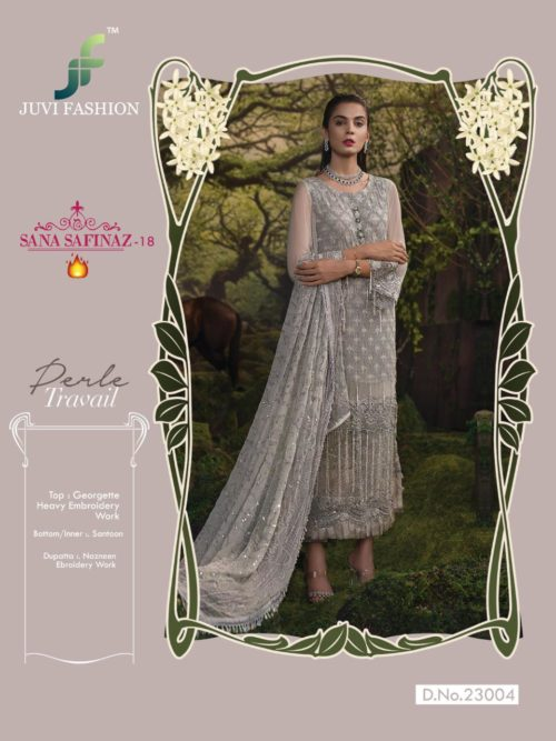 Juvi Sana Safinaz Vol 18 Georgette with Heavy Embroidery Salwar Suit 23004