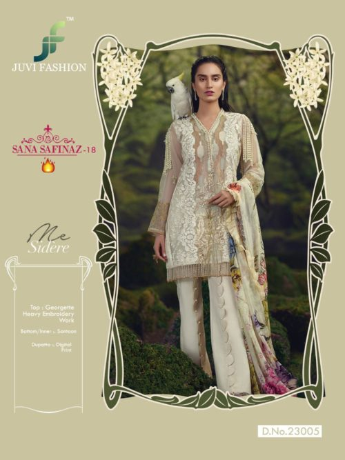 Juvi Sana Safinaz Vol 18 Georgette with Heavy Embroidery Salwar Suit 23005
