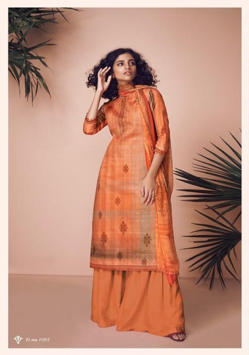 Kesar Presents Zara Jam Silk Digital Print With Swaroski Work Suit 1005