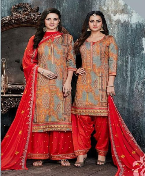 Kessi Fabric Presents Colour's By Patiyala House Vol 11 Cotton Satin Prints With Work Suit 4067