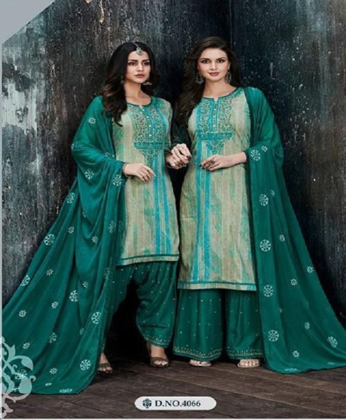 Kessi Fabric Presents Colour's By Patiyala House Vol 11 Cotton Satin Prints With Work Suits 4066