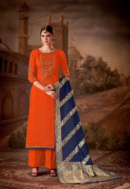 Levisa Rihanaa Pure Jam silk With Embroidery Suit 2619