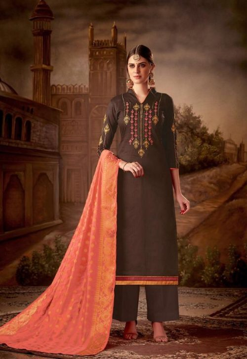 Levisa Rihanaa Pure Jam silk With Embroidery Suit 2620