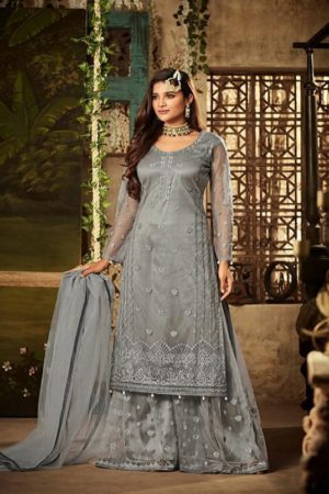 Mohini Pressents Glamour 61 Net With Heavy Embroidery Designer Partywear Suit 61003