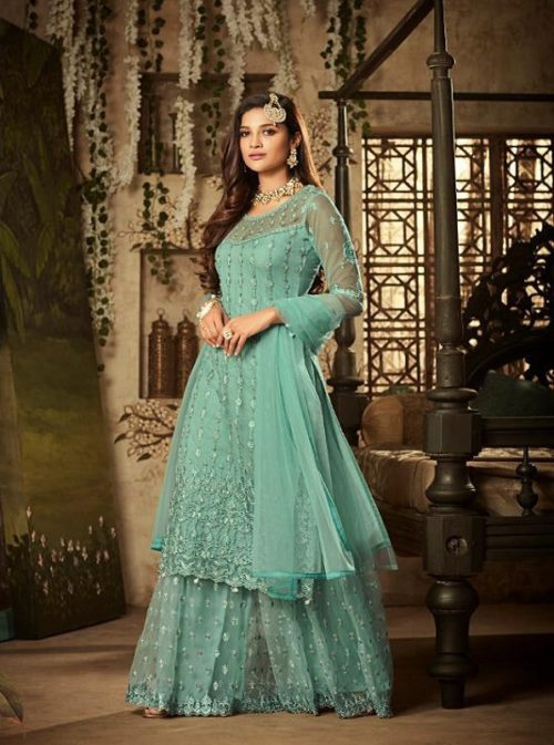 Mohini Pressents Glamour 61 Net With Heavy Embroidery Designer Partywear Suit 61004