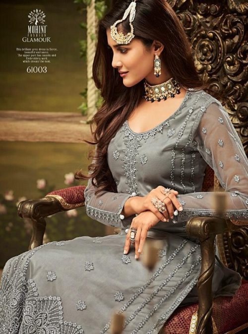 Mohini Pressents Glamour 61 Net With Heavy Embroidery Designer Partywear Suits 61003