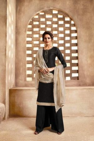 Omtex Maitreyi Pure Chanderi Foil Print With Handwork Salwar Suit 585