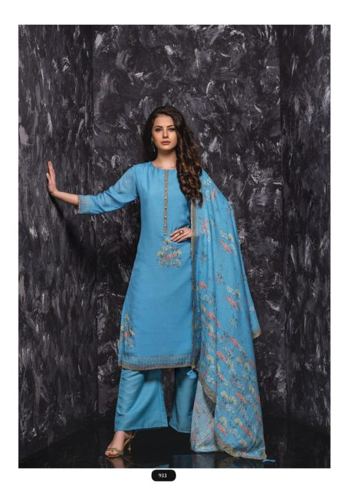 SRI Samaira Pure Viscose Bemberg Maslin Printed Exclusive Tiki work Suit 933
